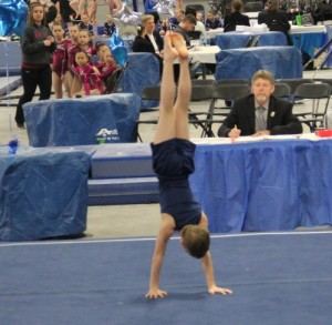 Boys handstand cropped